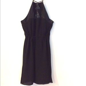 Et Vous black silk cocktail slipdress NWOT